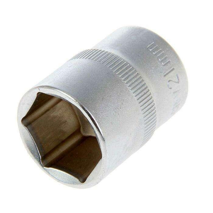 "Головка торцевая TUNDRA premium, 6-гранная, 1/2"", 21 мм, CrV"