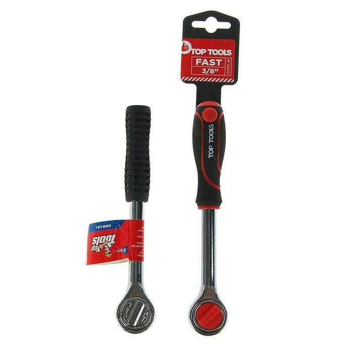 Ключ трещоточный Top Tools, 3/8'', 200 мм