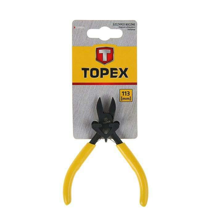 Кусачки TOPEX, боковые прецизионные, 113 мм