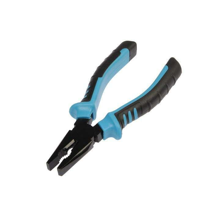 Плоскогубцы TUNDRA comfort black, двухкомпонентная рукоятка, 160 мм