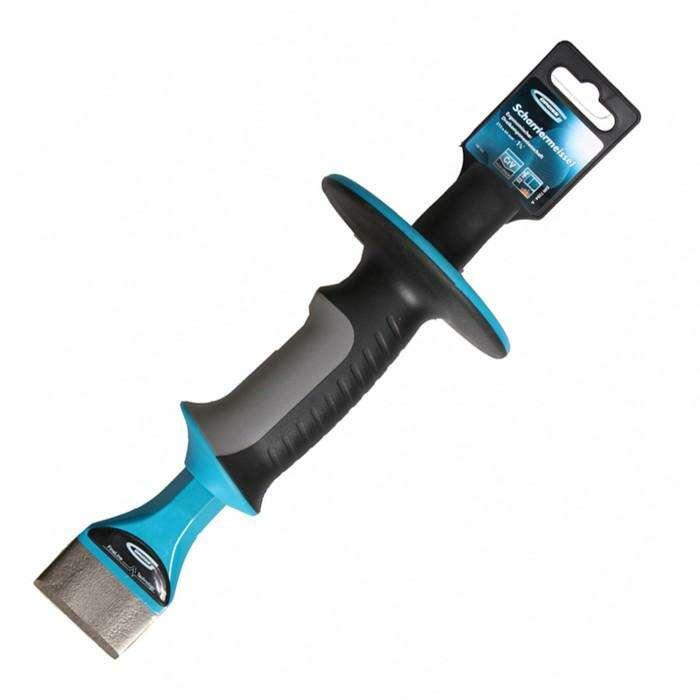 Зубило-конопатка GROSS, 215 × 44 мм, трёхкомпонентная рукоятка, защитный протектор