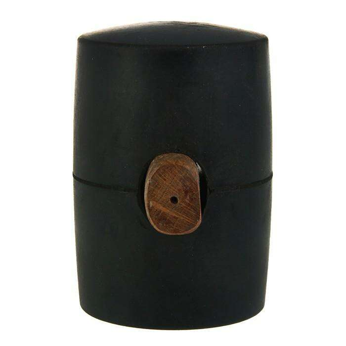 Киянка резиновая Sparta, 1130 г, черная резина, деревянная рукоятка