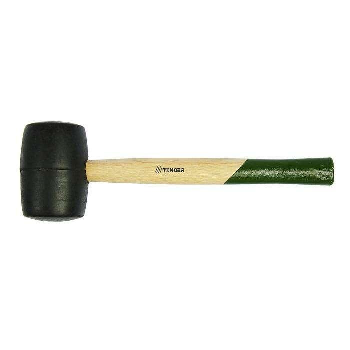 "Киянка ""TUNDRA basic"" деревянная рукоятка, черная резина 750г"