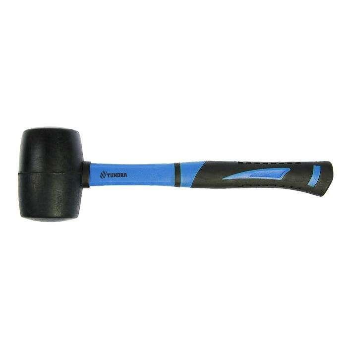 Киянка TUNDRA comfort, 750 г, фиберглассовая рукоятка, черная резина