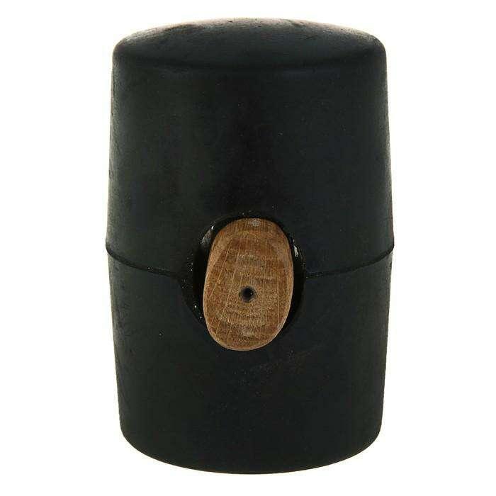 Киянка резиновая Sparta, 910 г, черная резина, деревянная рукоятка
