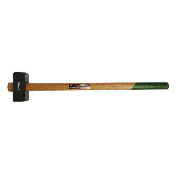 Кувалда кованая TUNDRA Basic, 4 кг, удлиненная деревянная рукоятка