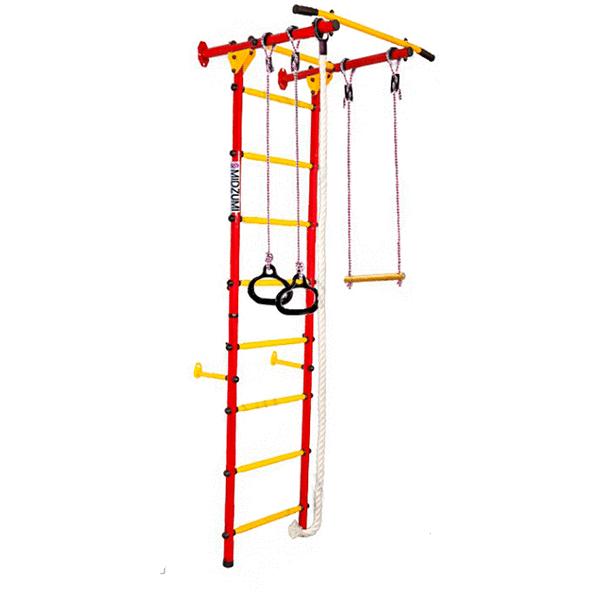 Детский спортивный комплекс Midzumi Karui Kabe (красный/желтый)