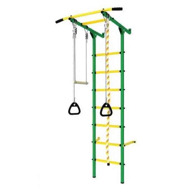 Шведская стенка Romana ДСК Пристенный с регулировкой (Зеленый/Желтый)