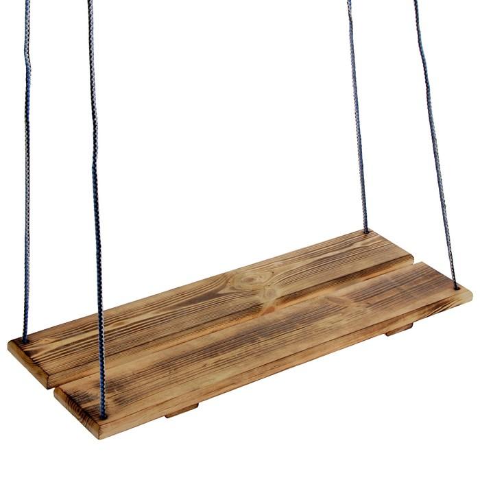 Качель подвесная, деревянная, термо, 60х22см
