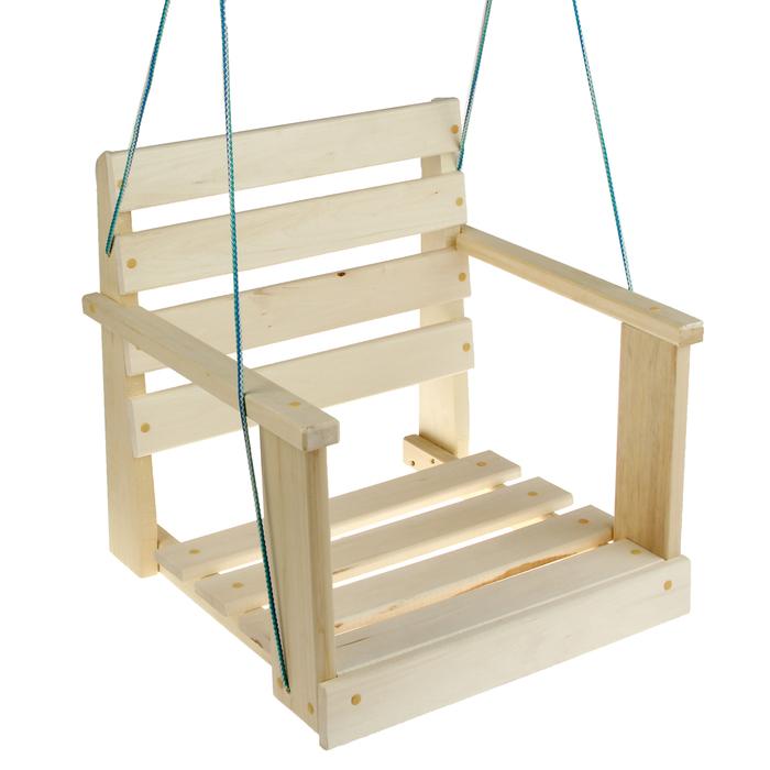 Качель  подвесная, деревянная 50х50х50см