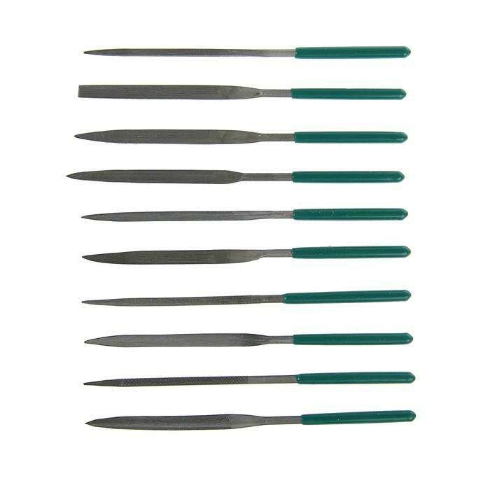 Набор надфилей TUNDRA basic, обрезиненные рукоятки 160 х 4 мм, 10 шт.