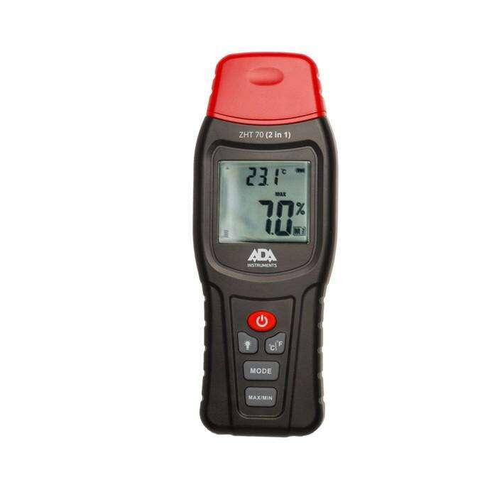 Измеритель влажности и температуры ADA ZHT 70, контактный, 2 в 1, дер./строймат. 70/2.4 %