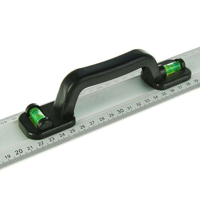 Линейка-уровень TUNDRA premium, алюминиевая, пластиковая рукоятка, 2 глазка, 600 мм