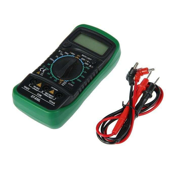 Мультиметр цифровой TUNDRA comfort DT-830L