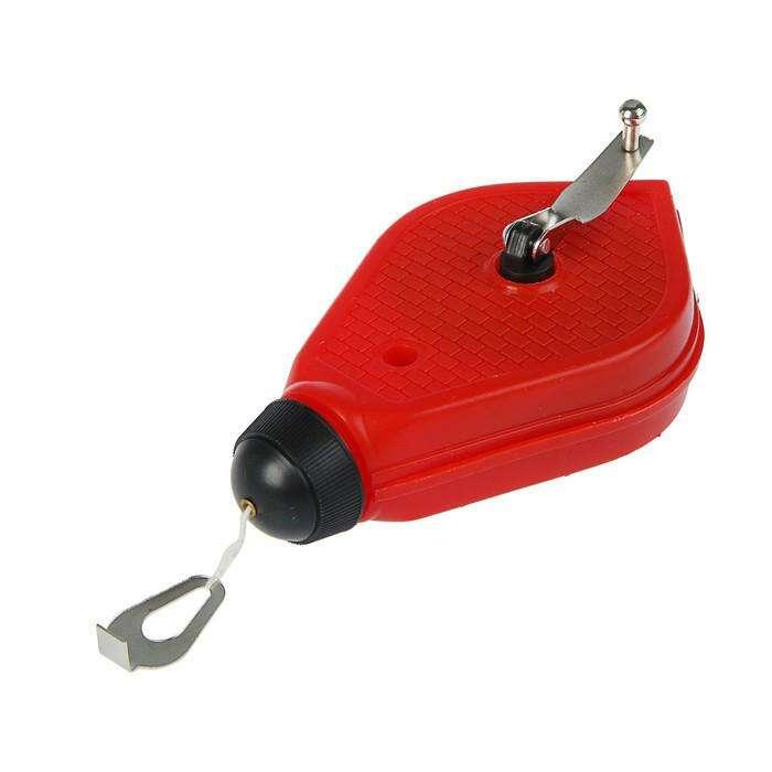 Набор разметочный Hobbi, шнур малярный 20 м, красящий порошок 115 г, красный
