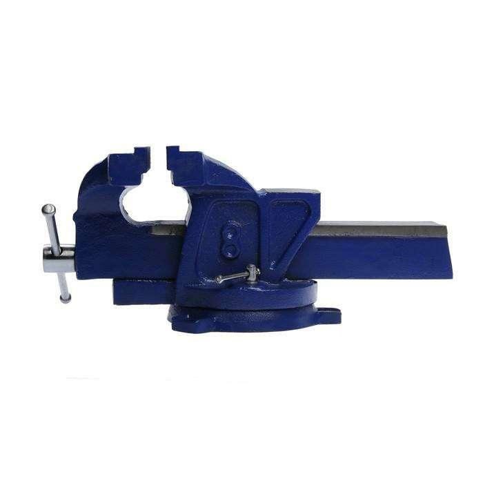 Тиски слесарные TUNDRA comfort поворотные на 180°, 200 мм, высококачественный чугун ВЧ-40
