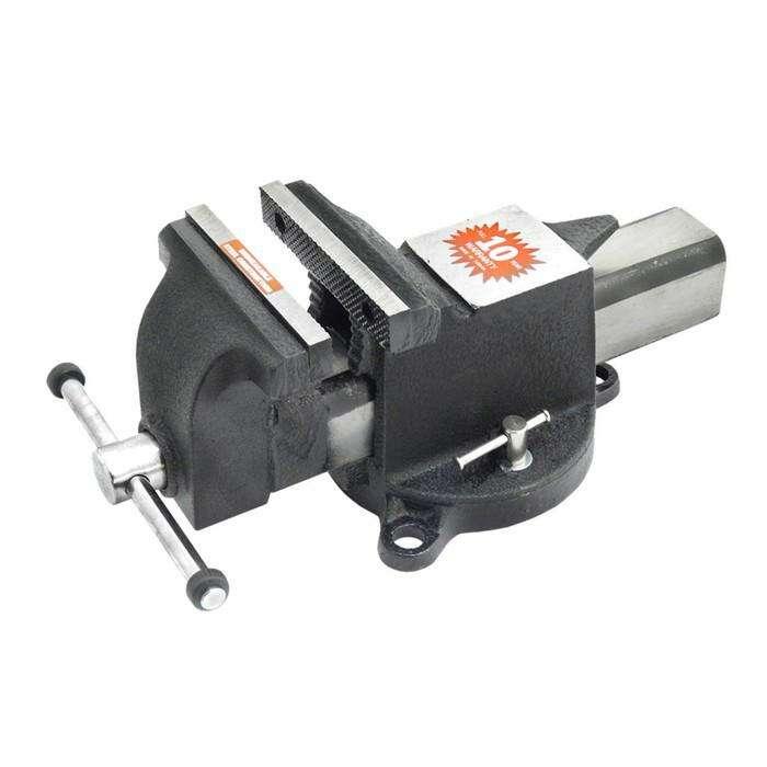 Тиски слесарные Forsage F-6540204, поворотные, длина/высота губок 100/21 мм, 1750 кг/см2