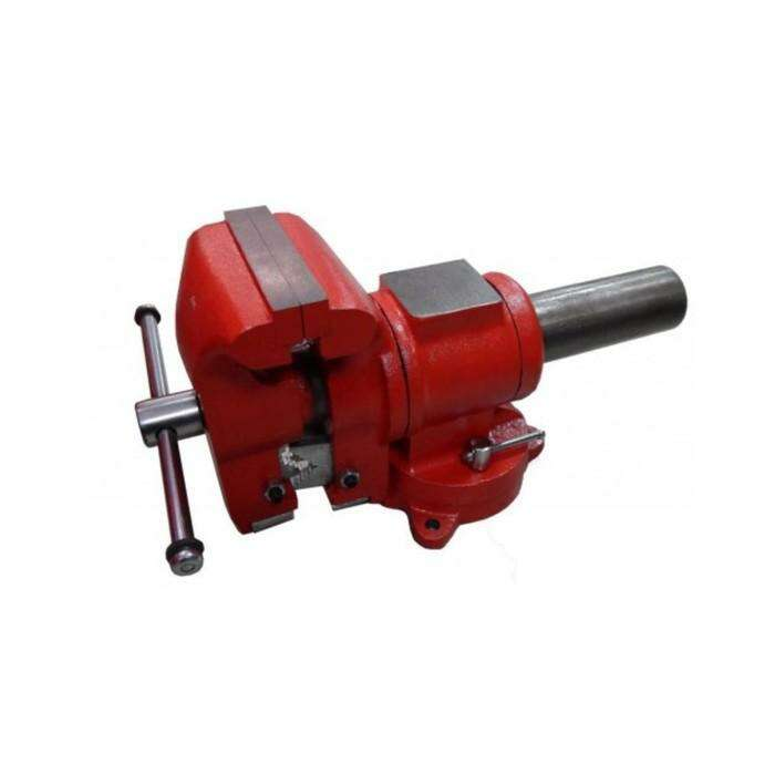 """Тиски стальные Forsage F-MV6540205, поворотные в двух плоскостях, с наковальней, 5"""" 125мм"""