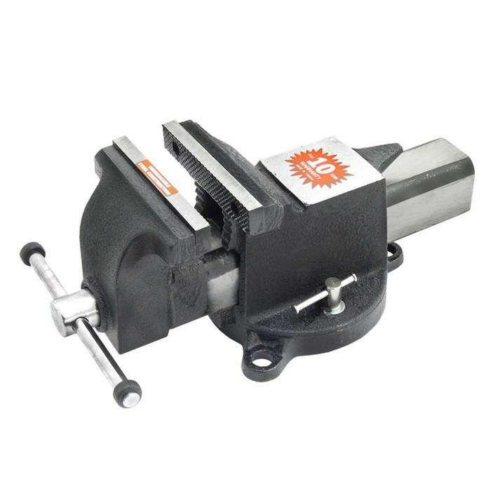 Тиски слесарные Forsage F-6540206, поворотные, длина/высота губок 150/21 мм, 1750 кг/см2