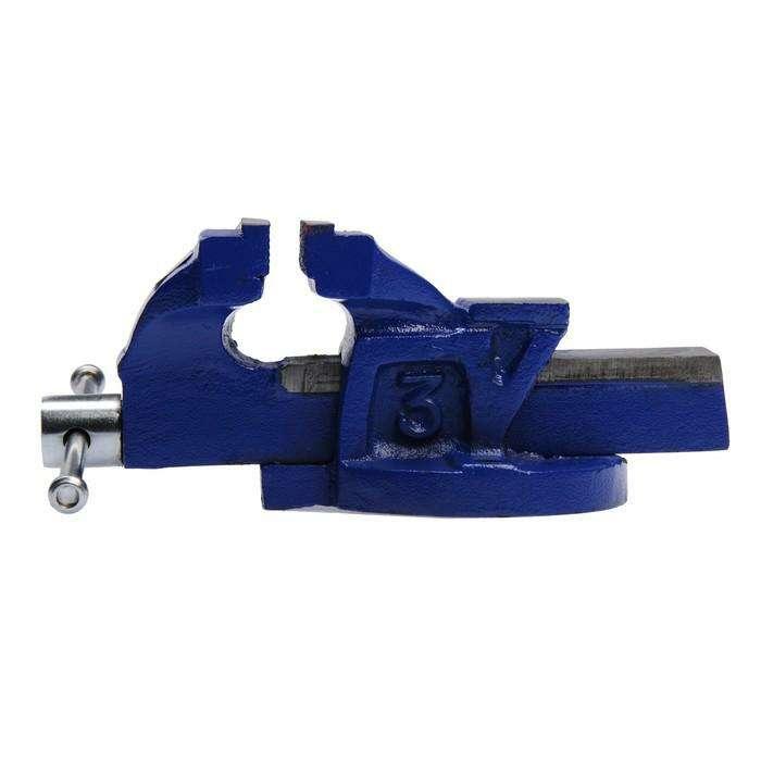 Тиски слесарные TUNDRA comfort, 75 мм, высококачественный чугун ВЧ-40