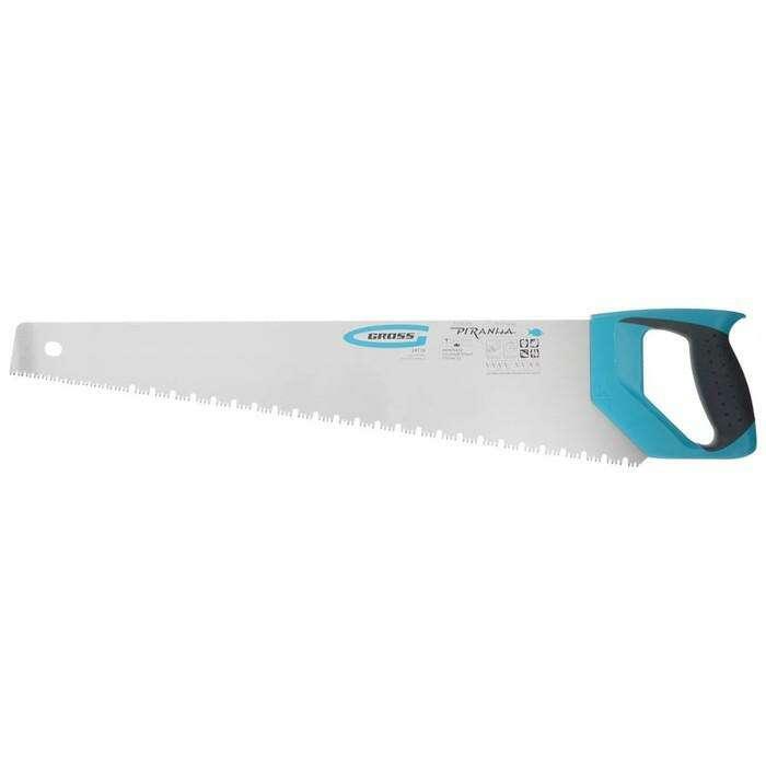 Ножовка по дереву Gross PIRANHA,550 мм,сегм.строение рабочей кромки,7-8 TPI, зуб-3D