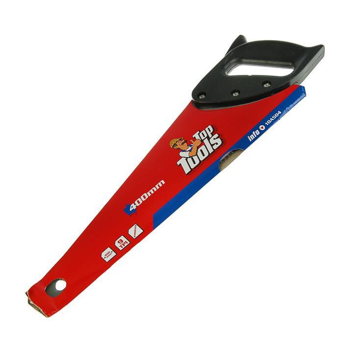 """Ножовка по дереву Top Tools, 400 мм, """"Top Cut"""", 9 TPI, пластиковая рукоятка"""