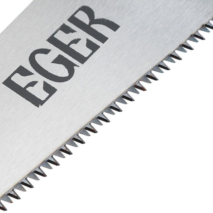 Японская ножовка EGER, прямая, 390мм, зуб 3D, 15 TPI, толщина 0.8мм, обрезиненная рукоятка