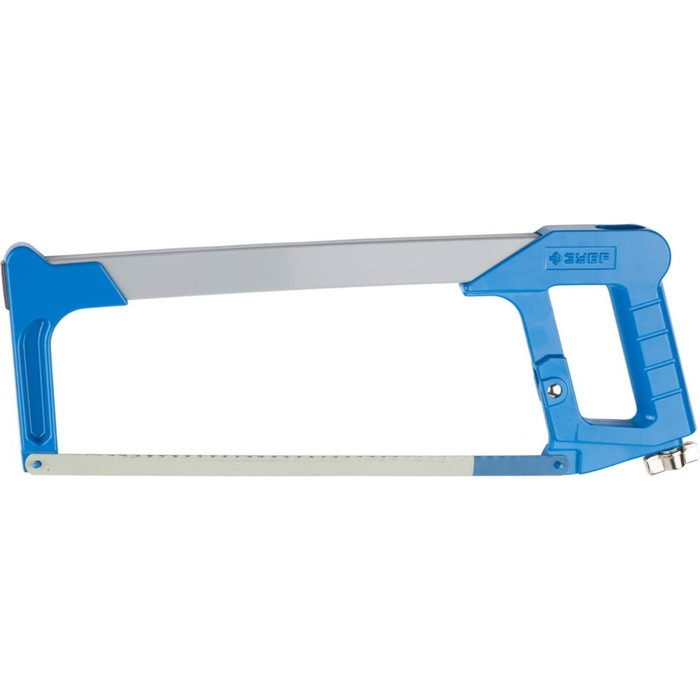 Ножовка по металлу ЗУБР ПРО-700, металлическая рукоятка, натяжение 170 кг, 300 мм