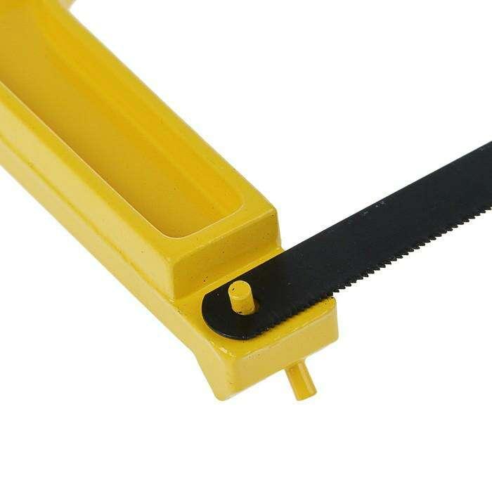 Ножовка по металлу TOPEX, 300 мм, алюминиевый, два положения, отсек для запасных полотен