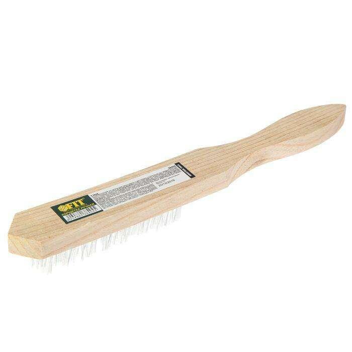Корщетка с деревянной ручкой FIT, 4-х рядная