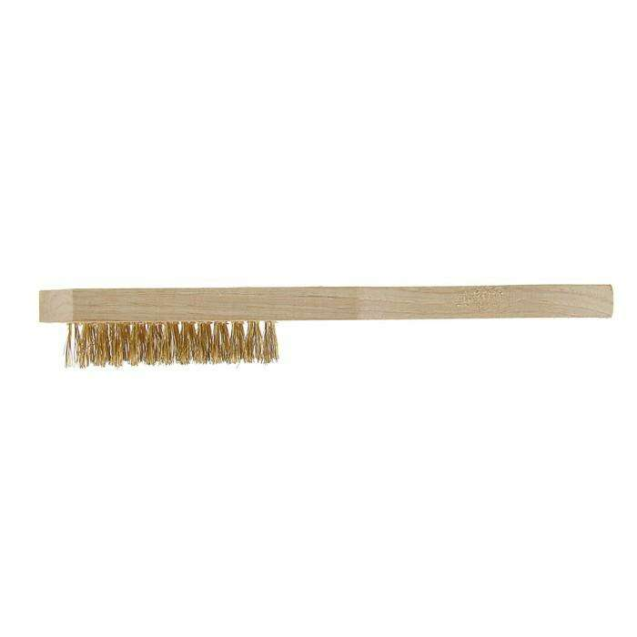 Щетка металлическая ручная LOM, деревянная рукоятка, 6-рядная