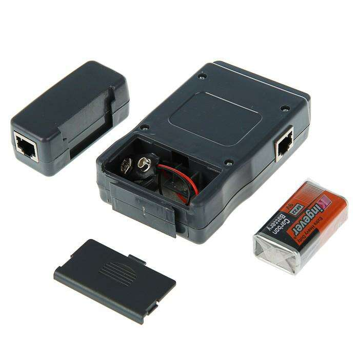 Тестер кабеля 5bites LY-CT011, для типов UTP/STP/TEL/USB