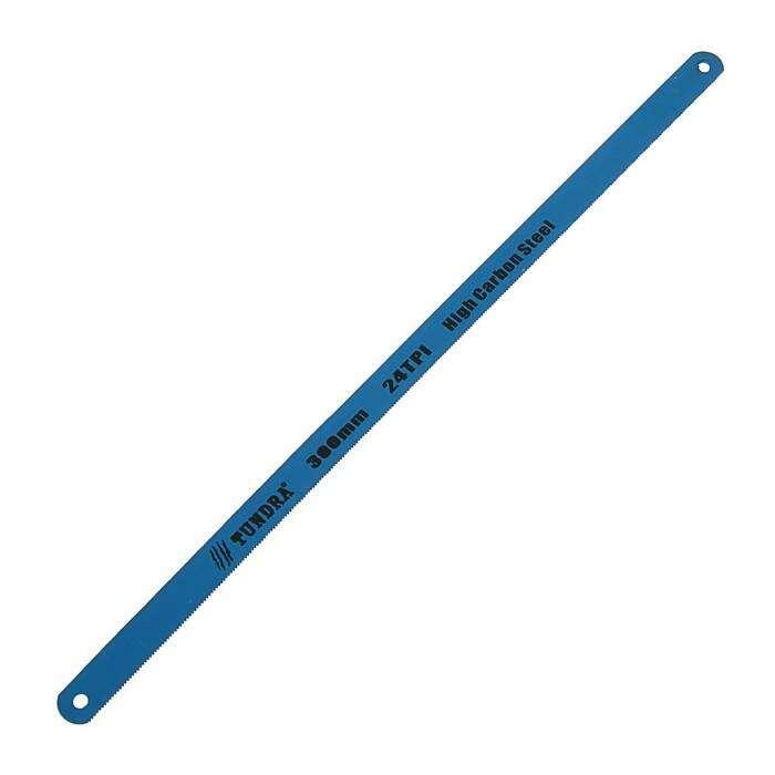 Полотна для ножовки по металлу TUNDRA, 24 TPI, высокоуглерод/сталь, зак/зуб, 300 мм, 12 шт