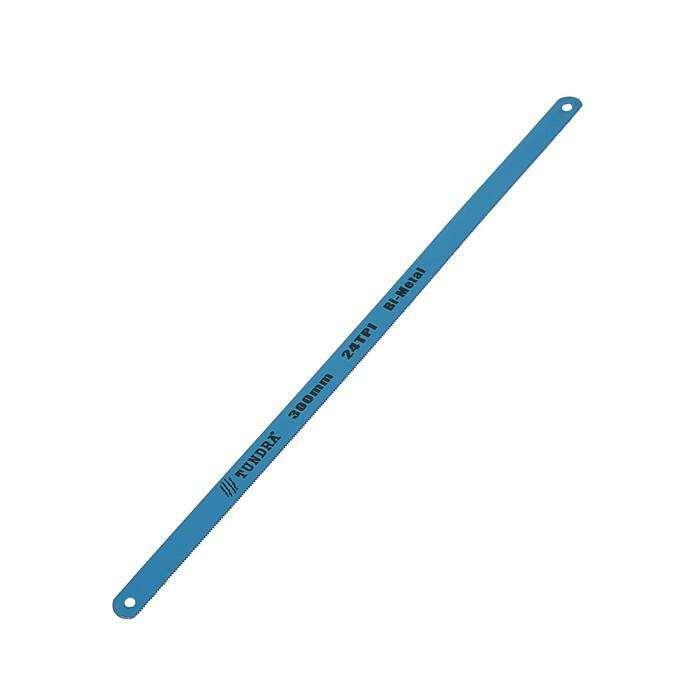 Полотна для ножовки по металлу TUNDRA, 24 TPI, биметалл, закалённый зуб, 300 мм, 12 шт