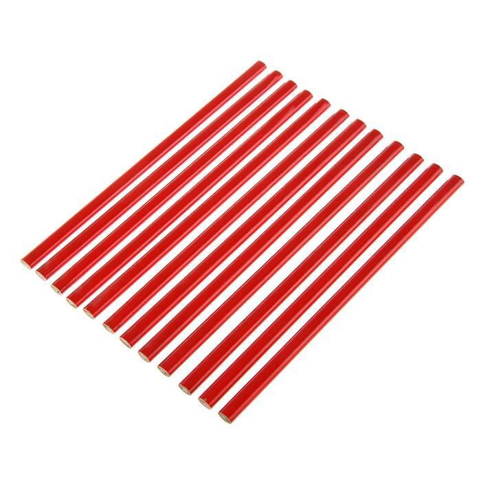 Строительный карандаш LOM, 180 мм,(набор 12 шт).