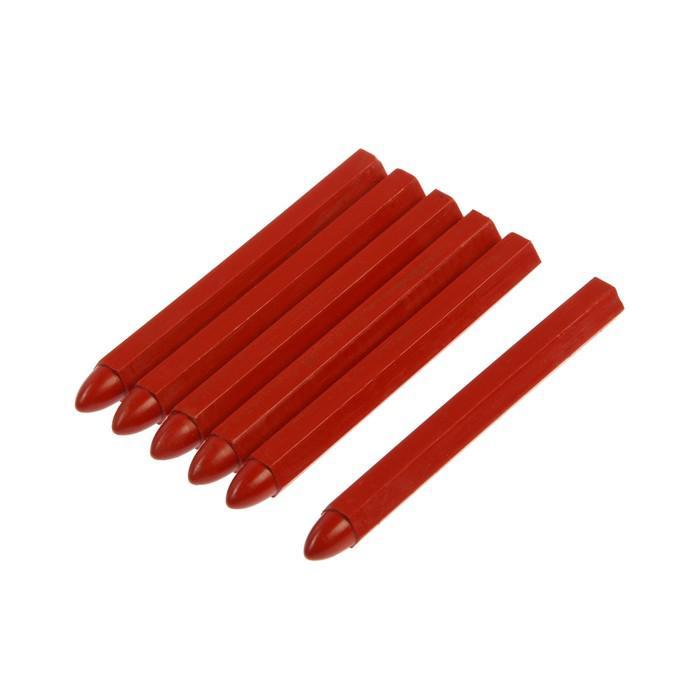 Мелки разметочные MATRIX, 120 мм, восковые, красные, в упаковке 6шт.