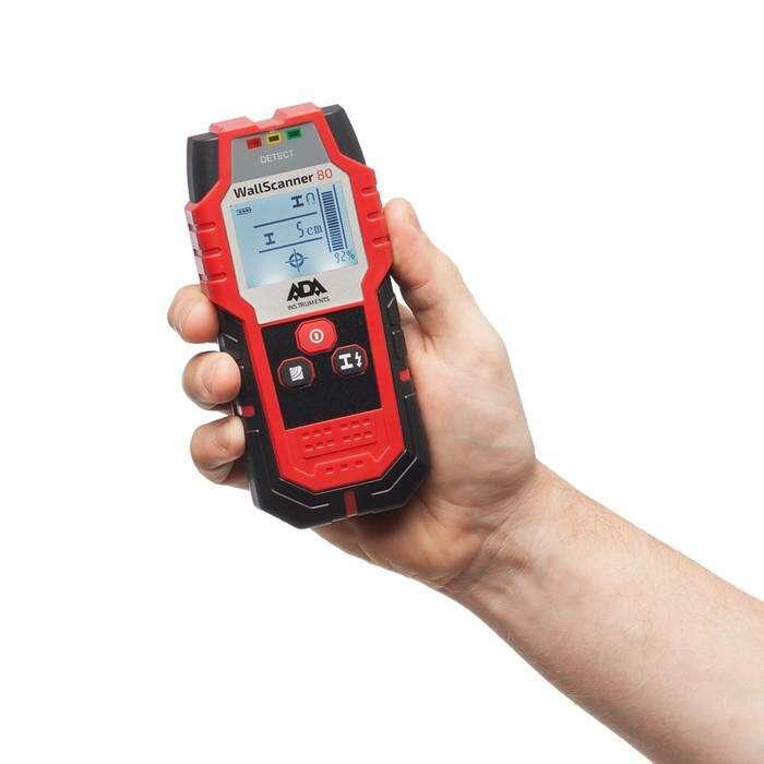Детектор проводки ADA Wall Scanner 80 А00466, металл/проводка/дерево 80/50/20 мм