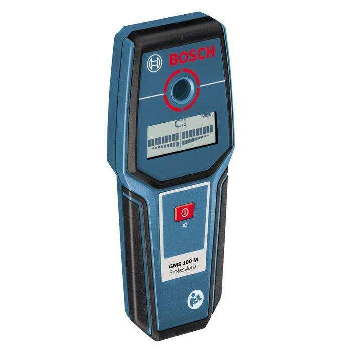 Детектор Bosch GMS 100 M (0601081100) для обнаружения металлов, max глубина 10 см