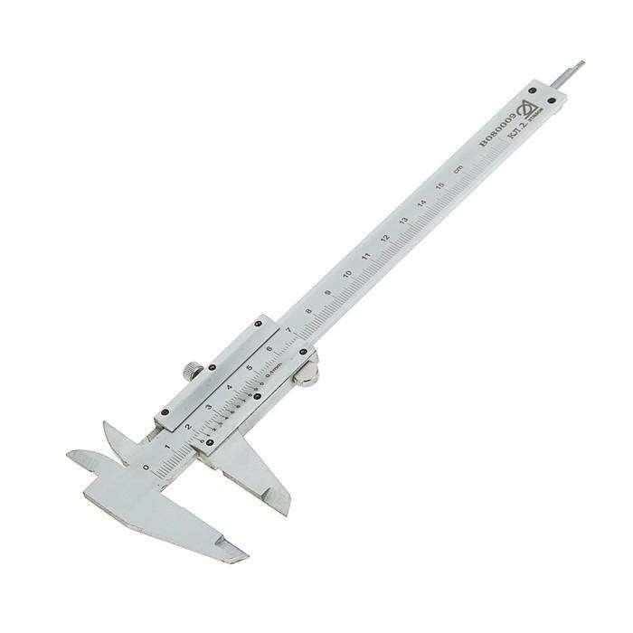 Штангенциркуль, 150 мм, цена деления 0.1 мм, класс 2, ГОСТ 166-89