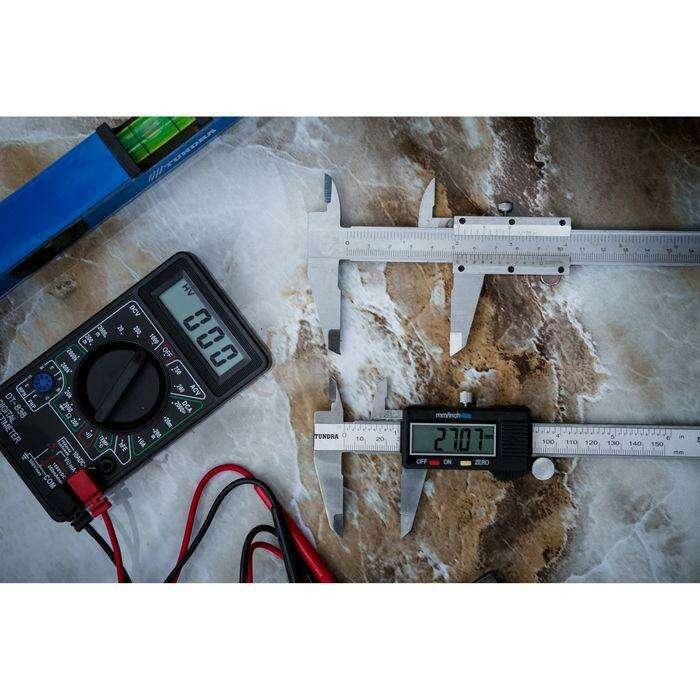 Штангенциркуль электронный TUNDRA, 150 мм, цена деления 0.01 мм, с глубиномером