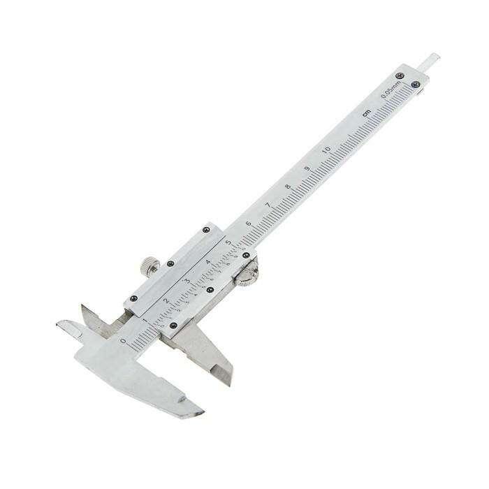 Штангенциркуль TUNDRA basic, 100 мм, цена деления 0,02 с глубиномером