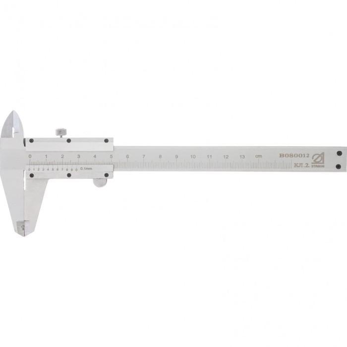 """Штангенциркуль """"ЭТАЛОН"""", класс точности 2, 125мм, шаг 0,1мм, ГОСТ 166-89"""