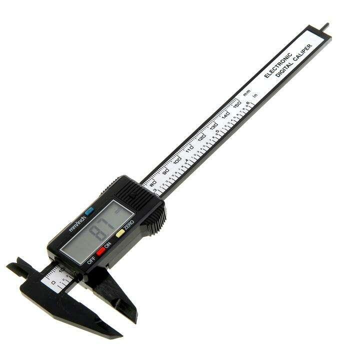 Штангенциркуль электронный LOM, 150 мм, цена деления 0.1 мм, с глубинометром