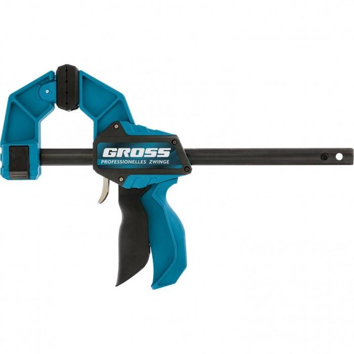 Струбцина реечная Gross 20702, быстрозажимная, пистолетного типа, пластиковый корпус, 300 мм   43593