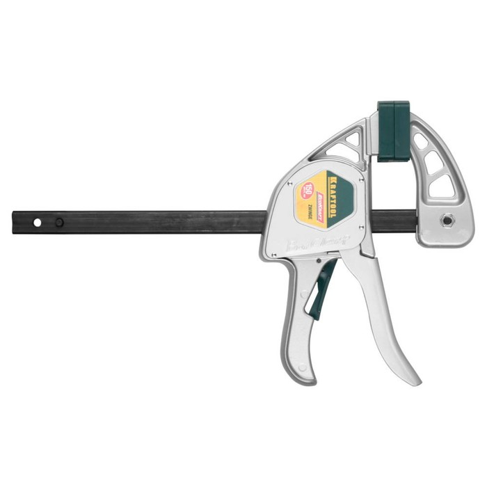 Струбцина KRAFTOOL 32228-15, ручная, пистолетная, металлический корпус, 150/350мм, 200кгс