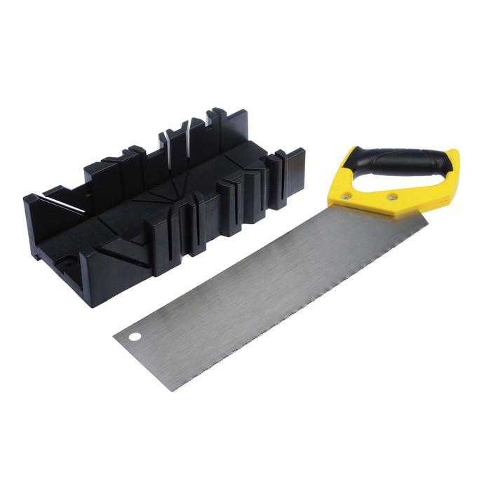 Набор TUNDRA Basic, стусло 45/90/22,5°, 300х80мм, ножовка 350мм, шаг 2мм, 2х комп. рук-ка