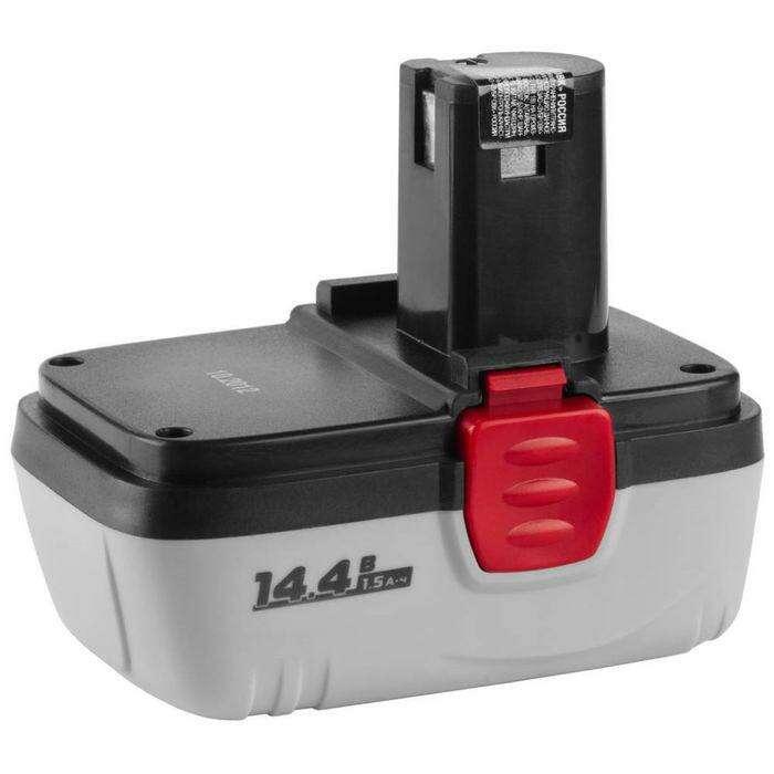 """Батарея аккумуляторная """"ЗУБР"""" ЗАКБ-14.4 N15, Ni-Cd, 1.5Ач, 14.4В для ЗДА-14.4-2 (КИ(Н))"""