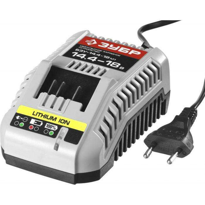 "Зарядное устройство ""ЗУБР"" БЗУ-14.4-18 М1, 14.4-18 В для АКБ М1"