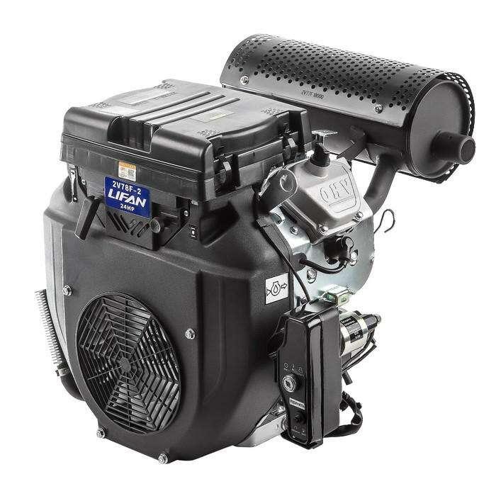 Двигатель LIFAN 2V78F-2А, бенз., 4Т., 24 л.с., 688 см3, d=25 мм