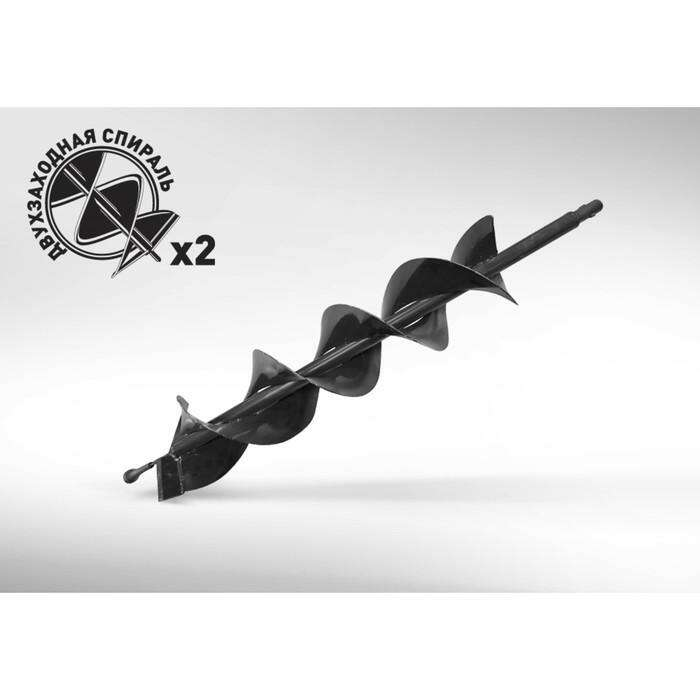Шнек для грунта Carver GDB-100/2, двухзаходный, d пос=20мм, D=100мм, L=80см